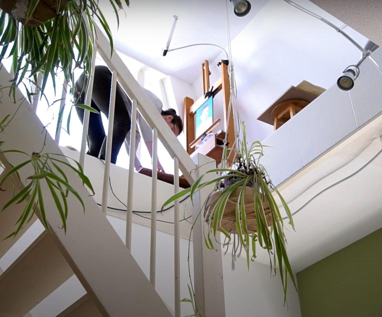 boven de trap